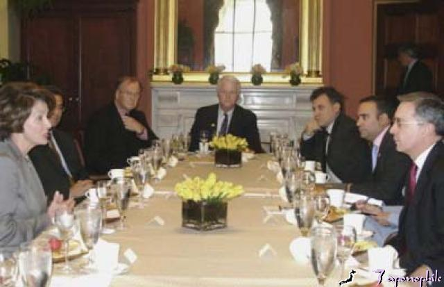 Treffen Uribe mit demokratischen Abgeordneten