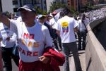 No más FARC - Demonstration auf der 127