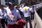 No más FARC - Demonstration auf der 127